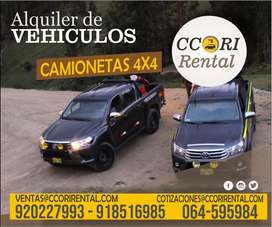 ALQUILER  de camionetas 4x4 , Buses, camiones YAULI MOQUEGUA CERRO DE PASCO HUANCAYO HUANUCO