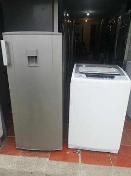 Combo nevera y lavadora poco uso  con garantía y envío