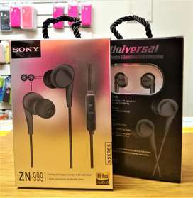 Sony ZN-999 headphones mp3 Games Celulares Tablets PC con CABLE