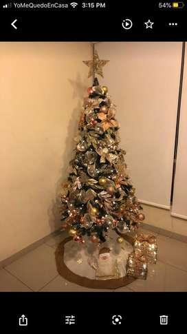 Arbol de Navidad + Adornos + Maleta