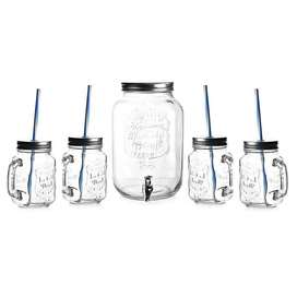 Set dispensador de bebidas + 4 vasos/bombillas