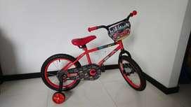 se vende Bicicleta Para Niños Disney Cars