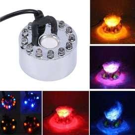 generador de niebla 12 LED luz colorida ultrasónica nebulizador