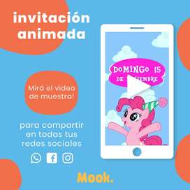 My Little Pony Invitación Animada en Video