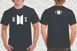 camiseta estampada personalizada korean pop bts