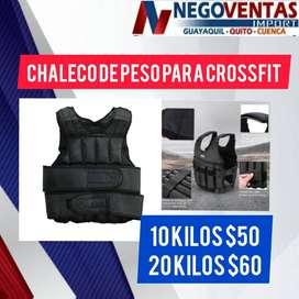 CHALECO CON PESO PARA CROSSFIT DE 10 Y 20 KG