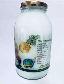 Aceite de coco virgen puro prensado al frío prodcoco