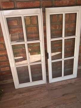 Vendo ventana de aluminio corrediza con reja