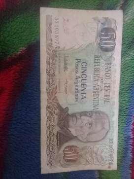 Vendo Billete de $50 Argentinos