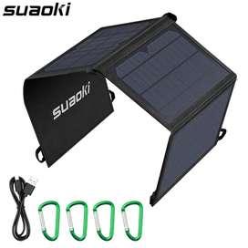 Cargador Solar Portatil Suaoki Plegable 21w 3 Panel 2usb
