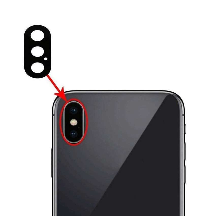 vidrio de camara trasera de iphone x / xs 0