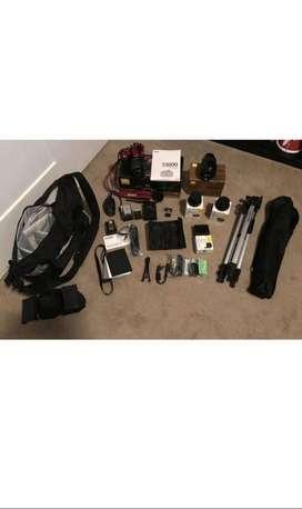Nikon D3200 DSLR Con Lentes Tripod