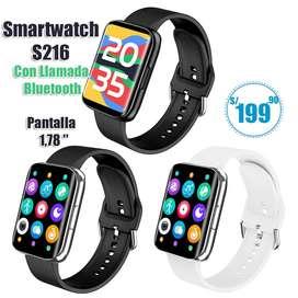 Smartwatch S216 con llamada Bluetooth y pantalla de 1,78'' a S/.199.90
