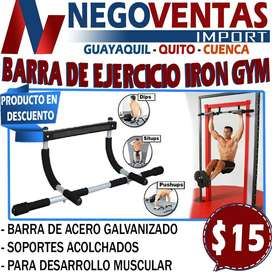 BARRA DE EJERCICIO IRON GYM