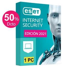ESET INTERNET SECURITY Licencia Original 1 PC 1 Año Windows 10, 8, 7, Mac (OFERTA Hoy 59 Soles)