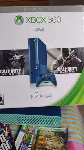 Xbox 360 edición especial azúl