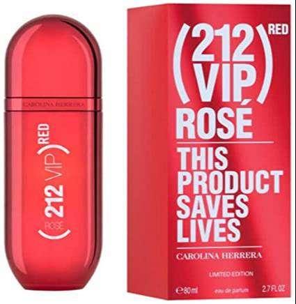 Perfume Carolina Herrera 212 Vip Red Rose 80ml Mujer Eros