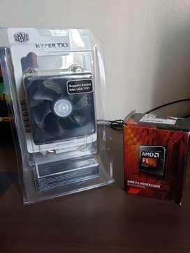 Combo Cooler Master Hyper Tx3 y procesador FX 8320E Black Edition