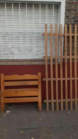 Cama Una Plaza Exelente.madera Dura