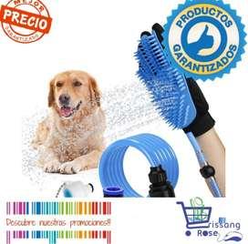 Guante Cepillo Manguera de Baño para Perro Gato Caballo Mascotas Spa