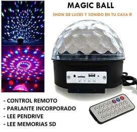 MAGIC BALL AUDIO RÍTMICA, PARLANTE Y LUCES . 220V