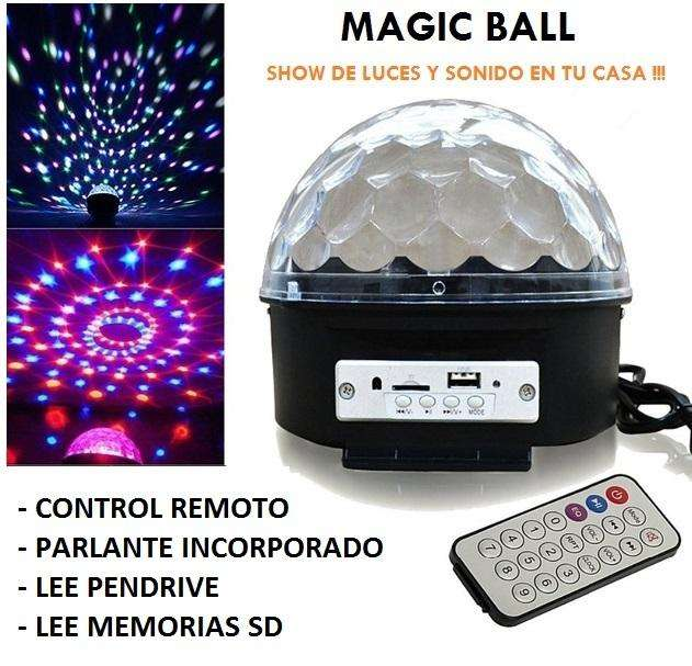 MAGIC BALL AUDIO RÍTMICA, PARLANTE Y LUCES . 220V 0
