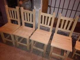 Combos nuevos Mesa mas 4 sillas reforzadas$ 3300'!!!