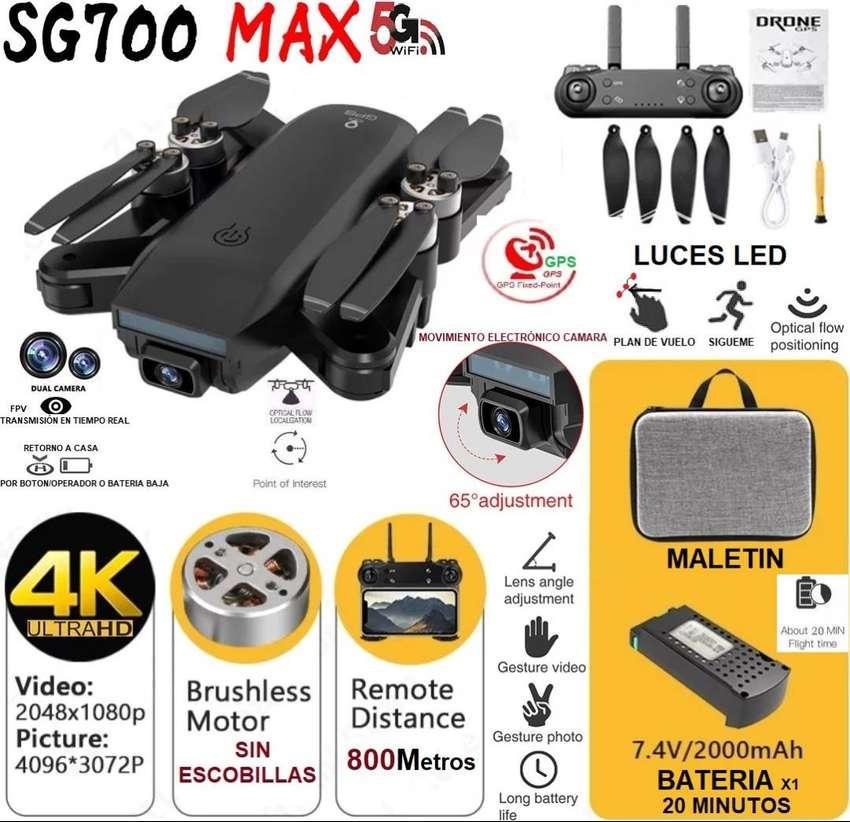 Drone SG700 MAX Gps camara 4k sin escobillas 800m 20 minutos dron