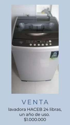 Lavadora haceb 24 lb