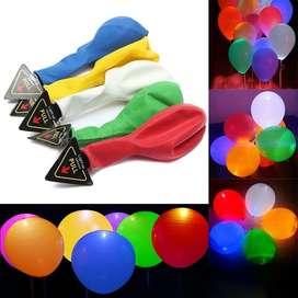 5 Globos Led De Colores Globos Cumpleaños Fiestas Infantiles PVV