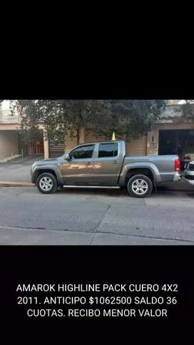 Vw amarok 2.0 tdi highline pack cuero