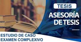ASESORÍA PROFESIONAL EN DESARROLLO DE PROYECTO INCLUIDO TUTORIA Y SUSTENTACIÓN Y REVISIÓN URKUND TESIS ELABORACIÓN