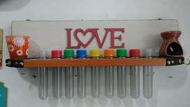 Especiero artesanal con 9 tubos pintado y decorado
