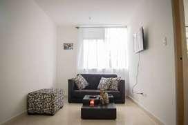 Habitación amoblada con todos los servicios incluidos en zona norte de Armenia, apartamento nuevo, moderno y elegante.