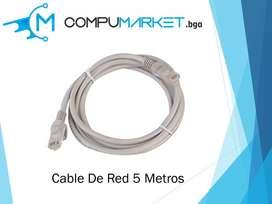 Cable de red 5 metros nuevo y facturado