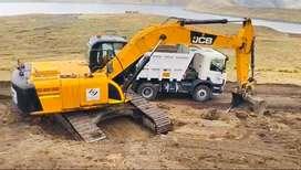 Demolición alquiler de excavadora Minicargador retroexcavadora volquetes 15m3, 20m3