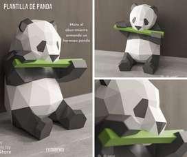 paper craft panda