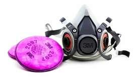 Mascara Respiradora Industrial con Filtros p100
