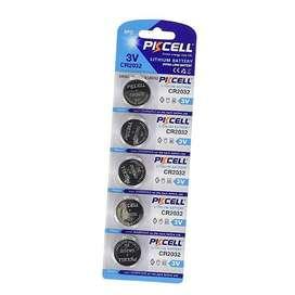 Pila Bateria Pastilla 2032 Cr2032 Blister 5 Unidades Pkcell