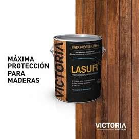Lasur impregnante p/maderas Victoria x 4 Lts colores varios
