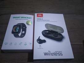 Smart bracelet + audifonos inalambricos recargables