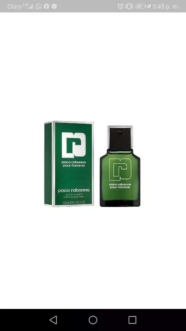 Vendo o cambio Perfume Paco Rabanne 50 ml 0