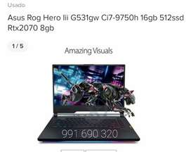 Asus Rog Hero Iii G531gw Ci7-9750h 16gb 512ssd Rtx2070 8gb