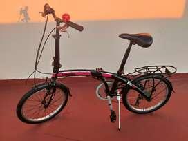 Bicicleta plegable rod 20, X-TERRA, con cambios Shimano,  como nueva!!!
