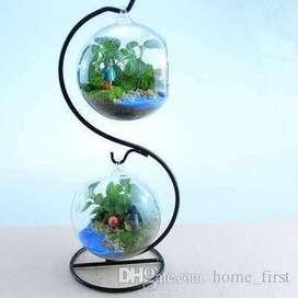Arbol con esfera de vidrio para jardín terrario