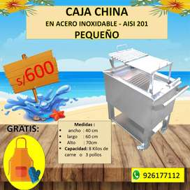 Caja china 2 en 1 en acero inoxidable aisi-201