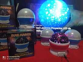 Lampara led  proyector de estrellas luna  y galaxia giratorio