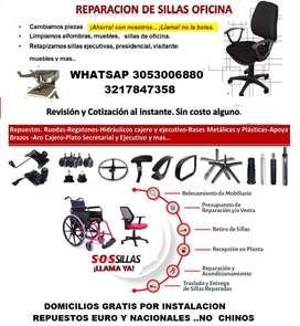técnicos  a domicilio reparación de sillas oficina