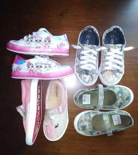 Lote zapatos niña talla 26