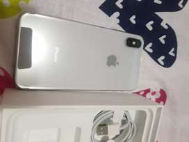 Iphone x plateado de 64 gb nitido